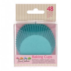 Baking cups Turquoise pk 48