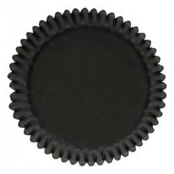 Baking cups Black pk 48