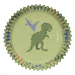 Baking cups Dinosaur pk 48