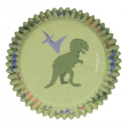 CupcakesFörmchen Dinosaurier pk 48