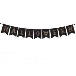 Guirlande Halloween noir or