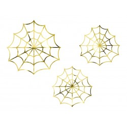 Décoration toiles d'araignée or