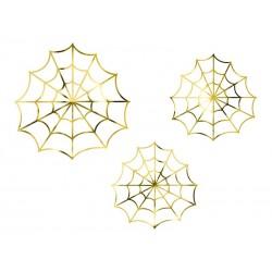 Dekoration Spinnennetz gold