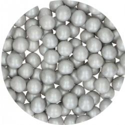 Perlen Silber aus Schokolade