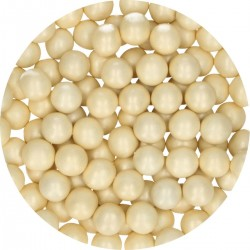 Perles ivoire en chocolat