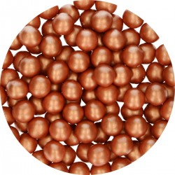 Perles cuivre en chocolat