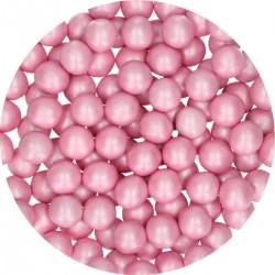 Perles rose en chocolat