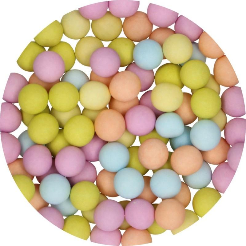Perles mat multicolore en chocolat