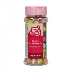 Pearls matt multicoloured in chocolate