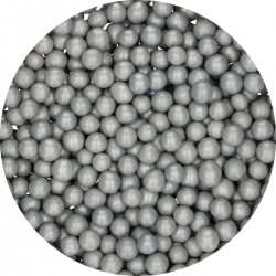 Perlen Medium Silber aus Schokolade