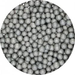 Perles Medium argent en chocolat