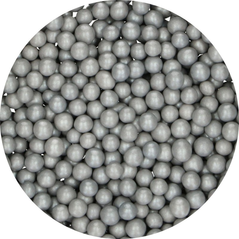 Pearls Medium Silver in chocolate