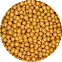 Pearls Medium Gold in chocolate