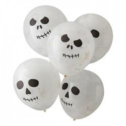 5 Ballons Tête de Mort