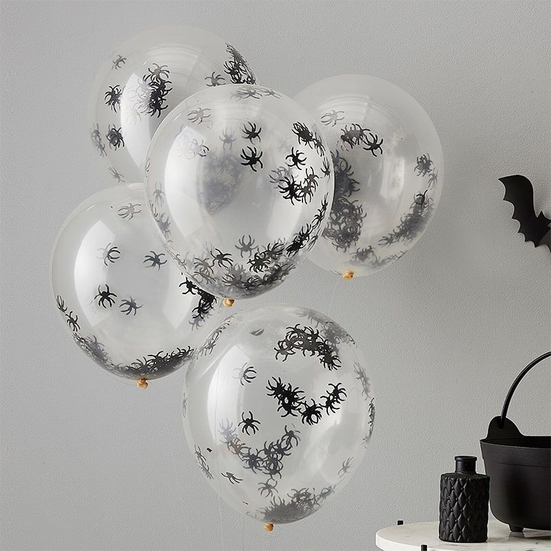 5 Balloons Spiders