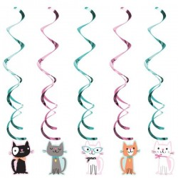 5 Swirl decorations Cat