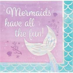 Iridescent mermaid napkins