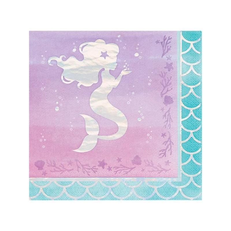 Mermaid silhouette napkins