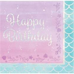 Servietten Happy Birthday sirène