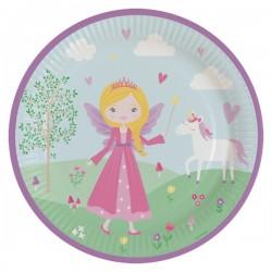 Princess and her unicorn plates