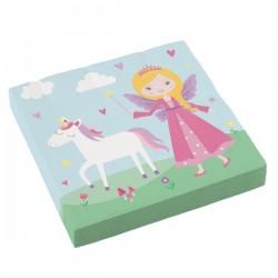 Napkins Princess and her unicorn