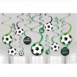 12 spirales décoratives Football