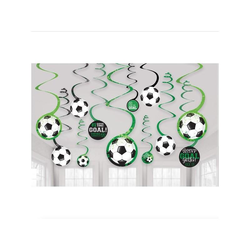 12 Swirl decorations Football
