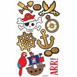 Temporary Tattoos Pirates