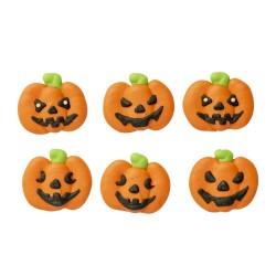 Sugar decoration  Pumpkins 6pcs