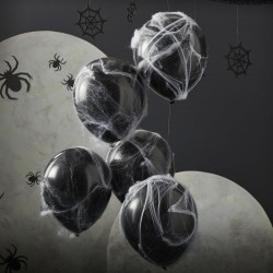 5 Balloons Spider webs