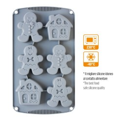 Gingerbread Silicone mould