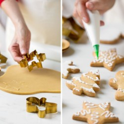Illustration Christmas biscuit cutters