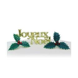 Topper Joyeux Noël Stechpalme
