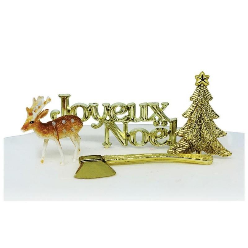 Topper Joyeux Noël Forêt