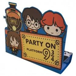 8 Cartes d'invitation Harry Potter Pop up