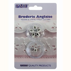 "Broderie Anglaise ""Square & 5 Petal Eyelet"" Cutters - ACTION"