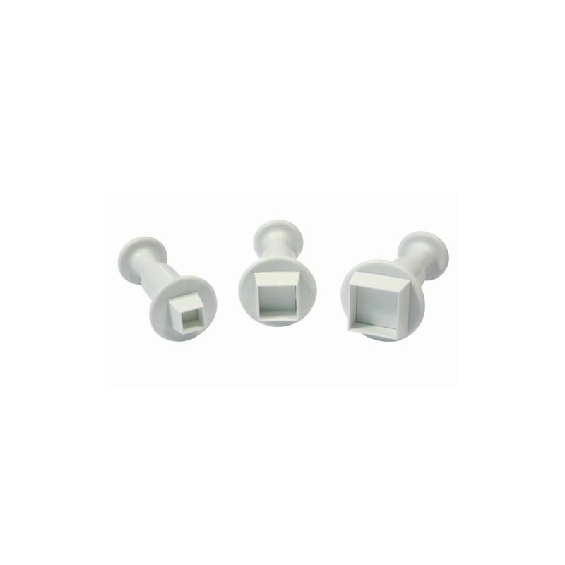 """""""Square"""" Emportes pièces Carré Miniature - Set/3"""