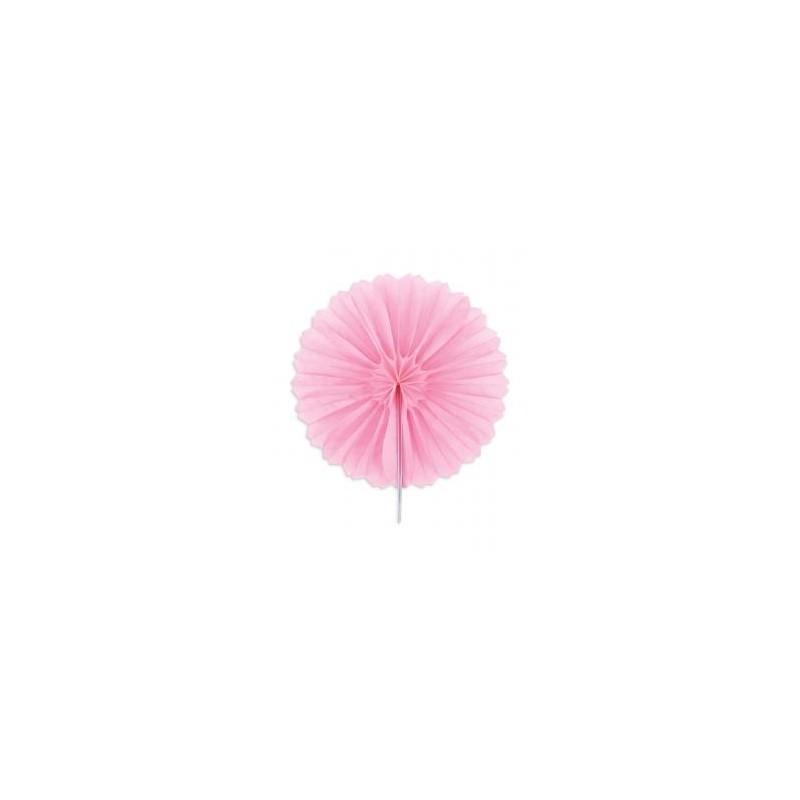 """Rosaces alvéolées en papier de soie """"Rose"""" – 25cm - 2pc"""