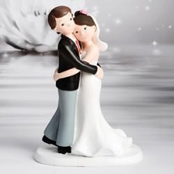 Figure décorative Mariage - Câlin des mariés - 17,5 cm