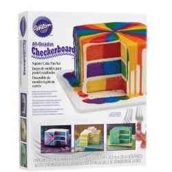 Gâteau damier carré - Set/3
