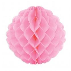 """Boule alvéolées en papier de soie """"Rose"""" – 25cm"""