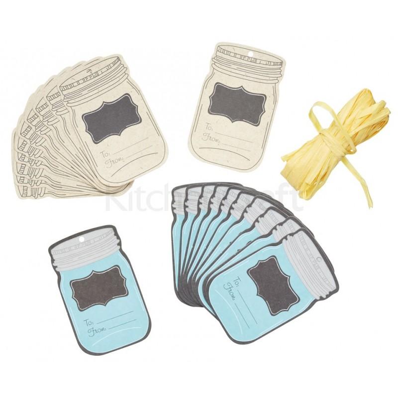 home made etiquettes cadeaux pour bocaux 24pcs 4 90 chf. Black Bedroom Furniture Sets. Home Design Ideas