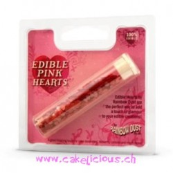 """Coeurs comestibles """"Pink"""""""