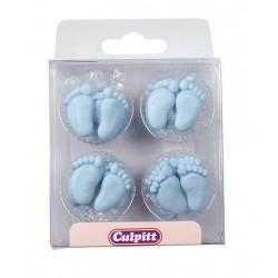 Paires de Pieds en sucre bleues - 24pcs