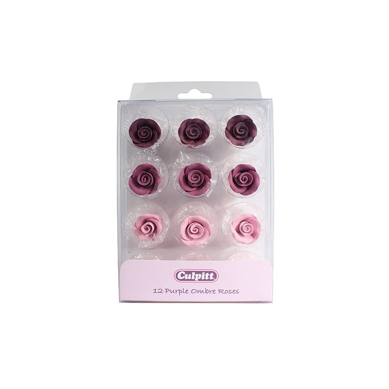 Roses violettes assorties - 12pcs
