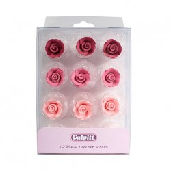 Roses rose assorties - 12pcs