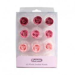 Roses rose assorties - 12pcs