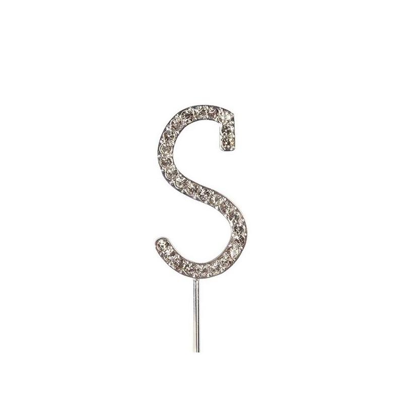 Lettre diamantée 'S' - 45mm