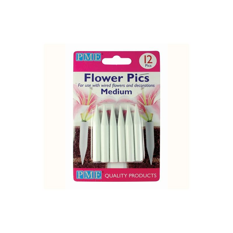 Pics pour fleurs moyen - 12pcs