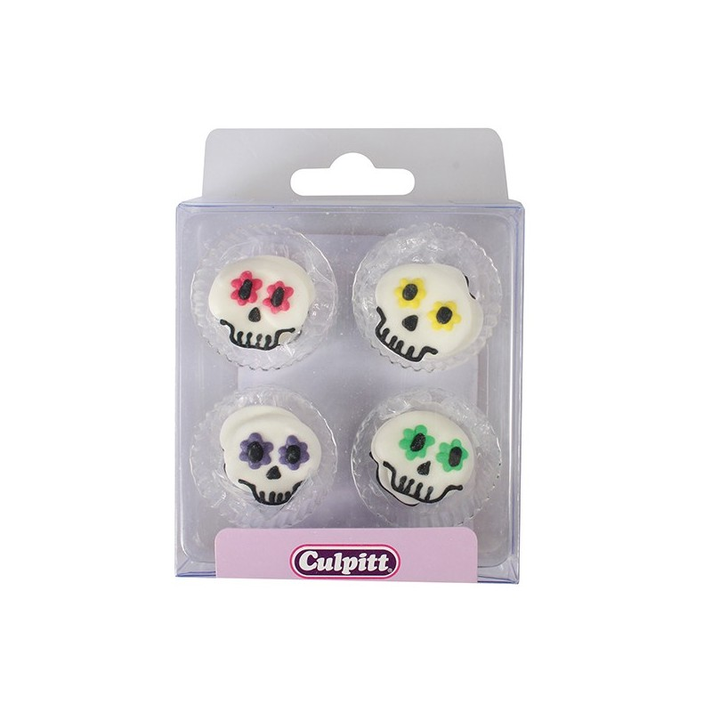 Décorations en sucre Halloween - Crâne - pk/12